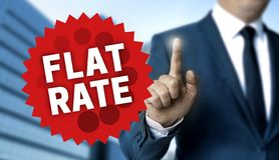 Концепция единообразной ставки показана бизнесменом стоковое фото rf