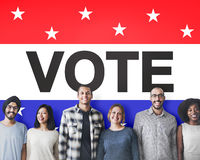 Концепция демократии решения избрания голосования голосуя политичная стоковое изображение