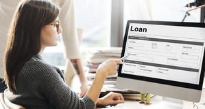 Концепция денег ипотеки заявки на кредит Стоковая Фотография RF