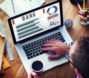 Концепция денег кредита финансов банка банка Стоковое Изображение