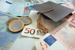Концепция денег образования Стоковые Фото