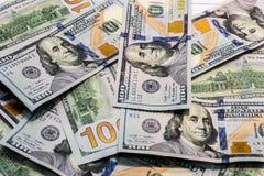 Концепция денег, 100 долларов предпосылки банкнот Стоковая Фотография RF