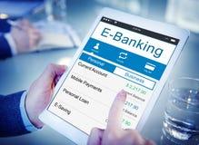 Концепция денег финансов кредитной карточки банка банка E-банка Стоковое Фото