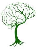 Концепция дерева мозга иллюстрация вектора