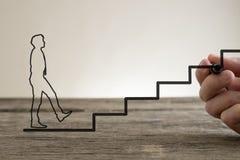 Концепция лестницы дела стоковая фотография