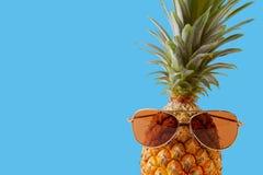 Концепция лета и праздника Аксессуары моды ананаса битника Стоковая Фотография
