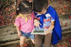Концепция детей детей цифров образования малыша прелестная Стоковое Фото