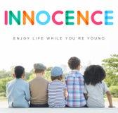Концепция детенышей ребенка детей детей невиновная стоковые фотографии rf