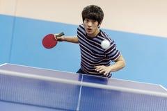 Концепция деятельности при спорта пингпонга настольного тенниса Стоковые Изображения