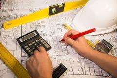 Концепция дела, архитектуры, здания, конструкции и людей Стоковые Изображения RF