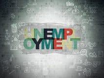 Концепция дела: Безработица на бумаге цифров Стоковые Изображения