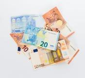 Концепция дела валюты счетов евро денег Стоковое Изображение