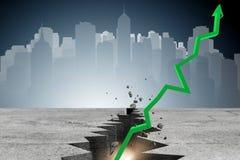 Концепция дела восстановления экономики - перевод 3d Стоковая Фотография RF