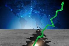 Концепция дела восстановления экономики - перевод 3d Стоковые Фотографии RF