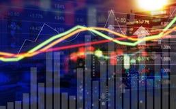 Концепция дела дизайна предпосылки фондовой биржи Стоковые Изображения RF