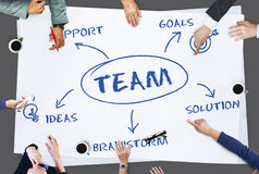 Концепция дела идей наличия команды стоковое изображение