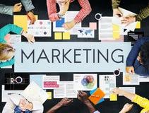 Концепция дела маркетинговой стратегии документа стоковые изображения rf