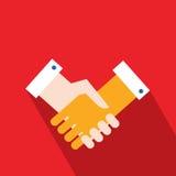 Концепция дела партнерства рукопожатия успешная Иллюстрация штока