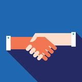 Концепция дела партнерства рукопожатия успешная Бесплатная Иллюстрация