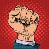 Концепция дела руки кулака бесплатная иллюстрация