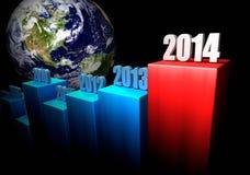 Концепция 2014 дела - Северная Америка Стоковое фото RF