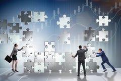 Концепция дела сыгранности с головоломкой соединяет Стоковые Изображения