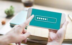 Концепция дела технологии имени пользователя безопасностью пароля Стоковое Изображение RF