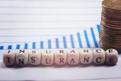 Концепция дела управление при допущениеи риска страхованием используя блоки письма Стоковые Изображения RF