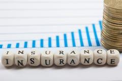 Концепция дела управление при допущениеи риска страхованием используя блоки письма Стоковые Фото