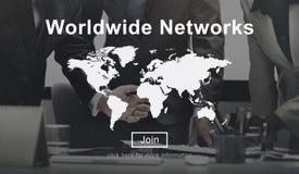 Концепция единства всемирных сетей глобальная международная Стоковое Изображение
