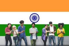 Концепция единства гордости патриотизма флага Индии индийская Стоковая Фотография RF