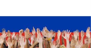 Концепция единства гордости патриотизма флага России русская Стоковое Изображение RF
