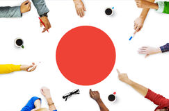 Концепция единства гордости патриотизма флага Японии японская Стоковое Изображение RF