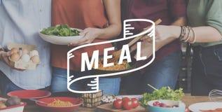 Концепция еды еды обедающего еды очень вкусная обедая здоровая Стоковая Фотография