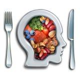 Концепция еды мозга Иллюстрация вектора