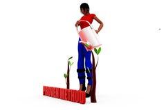 концепция женщины 3d моча Стоковое Фото
