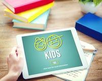 Концепция жизни поколения отродья детей детей Стоковые Изображения RF