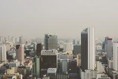 Концепция джунглей горизонта городского пейзажа здания городская конкретная Стоковая Фотография