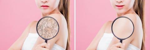 Концепция заботы кожи moisturizing стоковые изображения