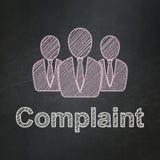 Концепция закона: Бизнесмены и жалоба дальше иллюстрация штока