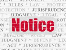 Концепция закона: Извещение на предпосылке стены бесплатная иллюстрация