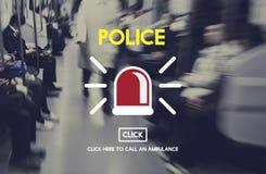 Концепция закона офицера наблюдения полисмена полиции муниципальная Стоковые Фотографии RF
