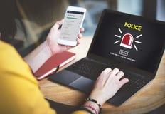 Концепция закона офицера наблюдения Municipale полисмена полиции Стоковое Изображение RF