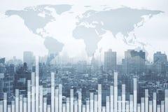 Концепция запаса, глобального бизнеса и финансов Стоковые Изображения RF