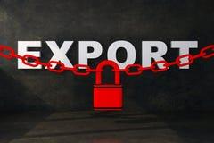 Концепция запрета на экспорт иллюстрация вектора