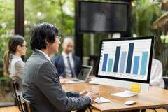 Концепция запуска предприятия корпорации стратегии бизнеса Стоковое Изображение