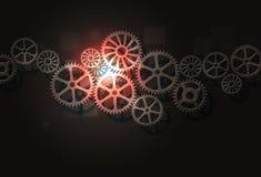 Концепция зацепляет предпосылку дела соединений Стоковое Изображение