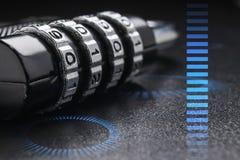 Концепция защиты данных и безопасности в интернете Стоковая Фотография