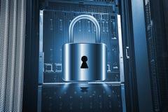 Концепция защиты данных сервера Страхование базы данных Безопасность информации от технологии интернета кибер вируса цифровой стоковое изображение rf