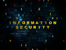 Концепция защиты: Информационная безопасность дальше Стоковое Изображение RF